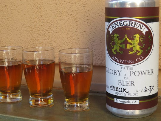 Enegren Brewing Co.'s 2017 maibock took first place in the fourth annual Best in Fest Brewery Competition organized as part of the Casa Pacifica Angels Wine, Food & Brew Festival. The traditional springtime beer will be featured again during Enegren's 2018 Fruhlingsfest on April 21.