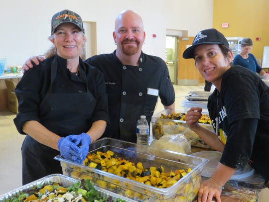 Chefs Linda Skene, West Cooke and Theresa Koenig are