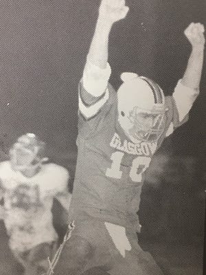 Quarterback Bob Connors (10) guided the Glasgow Scotties to the 1980 Class A state championship.