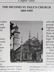The second St. Paul's Lutheran Church in York stood between 1869 and 1939. The Romanesque building was destroyed by an arsonist in 1939.