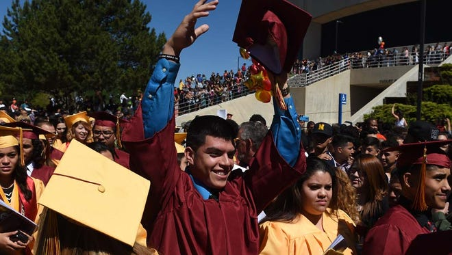 Images from the Sparks High School Graduation at Lawlor Events Center on June 15, 2015.