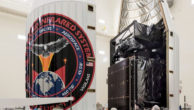 The Air Force's SBIRS GEO-3 satellite was encapsulated in preparation for a 7:46 p.m. Jan. 19 launch from Cape Canaveral Air Force Station.