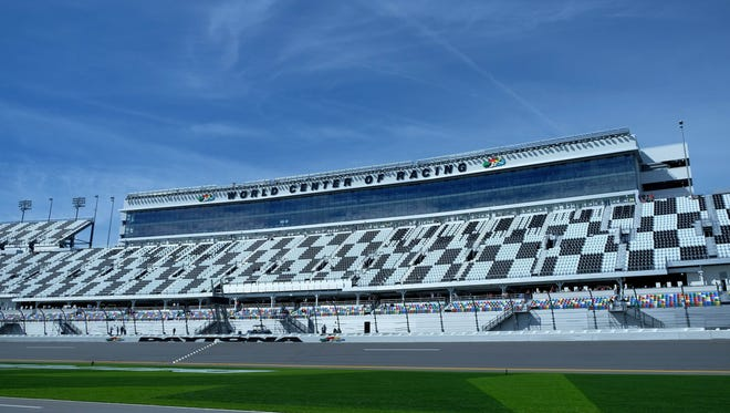 A general view of the grandstands at Daytona International Speedway.