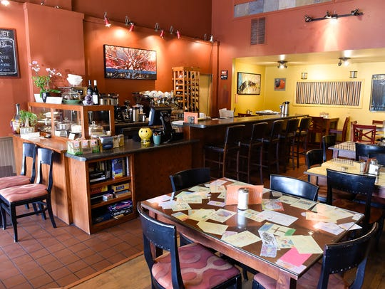The interior of Jules' Bistro, a downtown St. Cloud cafe serving breakfast, lunch, dinner and a variety of coffee beverages, is shown in this 2018 photo.