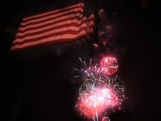 Fourth of July fireworks are enjoyed by thousands at