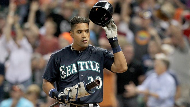 Seattle Mariners left fielder Franklin Gutierrez against the Houston Astros at Minute Maid Park.