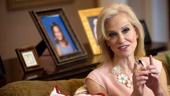 Kellyanne Conway, counselor to President Trump, is interviewed March 12, 2017, at her home in Alpine, N.J.