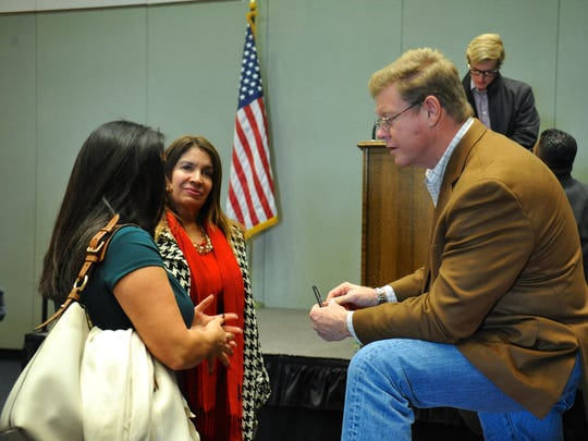 U.S. Rep. Mark Amodei, R-Nev., hosted a town hall on immigration on Tuesday, Dec. 20, 2016.