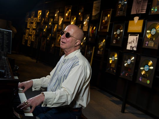 Paul Shaffer plays piano at the Musicians Hall of Fame and Museum in Nashville on May 23, 2017.