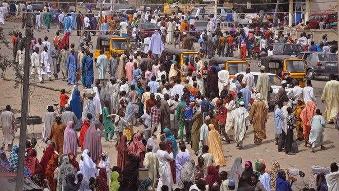 Maiduguri, Nigeria, in a photo taken Jan. 27.