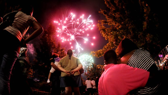 Fireworks will begin at 6:30 p.m. during Christmas on Caddo Festival.
