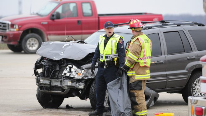 A three-vehicle crash occured Thursday morning on Highway 151.
