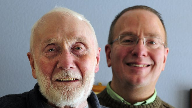 Mel Heller, longtime Fond du Lac Police chief, died April 1 at age 90. He is shown with son David.