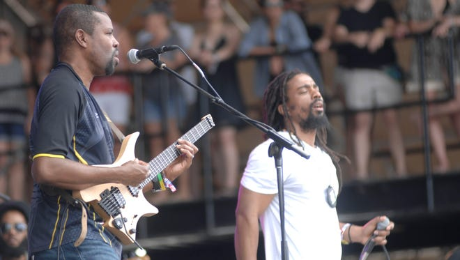 The Wailers perform on the Surf Stage at the 2016 Hangout Music Festival.