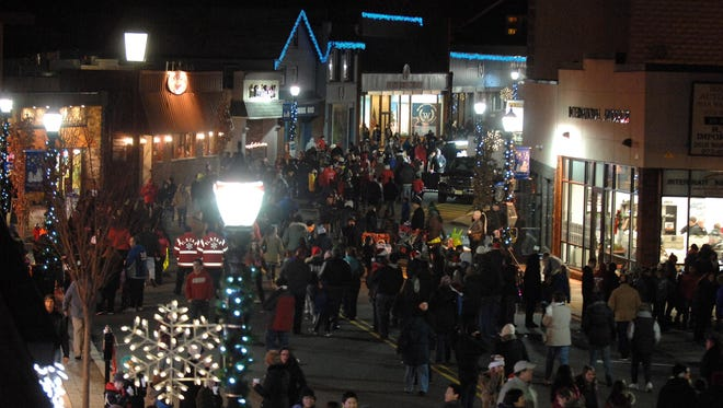 An archive image of the Pompton Lakes Holiday Stroll along Wanaque Ave. from Dec. 7, 2013.