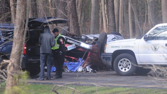 Investigators are on the scene of a fatal crash near Lambertson Road on Route 113 near Pocomoke on Monday, Jan. 30.
