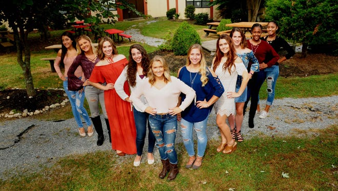 Delsea Regional High School's Homecoming Queen candidates are (from left) Mercedes Morales, Sophia Gorrell, Natalia Berardelli, Olivia Papiano,Graycee Garron, Alexa Grochowski, Sophie Temple, Nadia Berardelli, Andayza Stokes and Taelyn Williams.