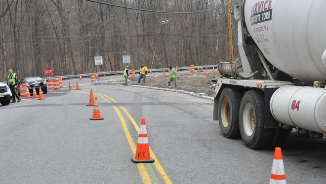 More road work is scheduled in Ringwood. In this photo, workers prepare for the town's first traffic signal at Skyline Drive and Erskine Road on April 18, 2013.