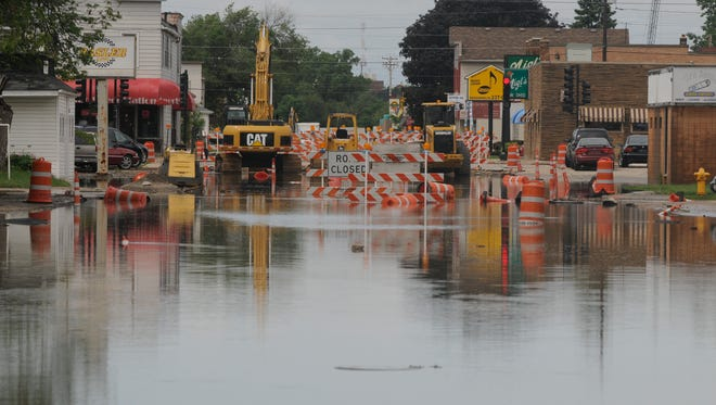 Heavy flooding was apparent along Ohio Street.