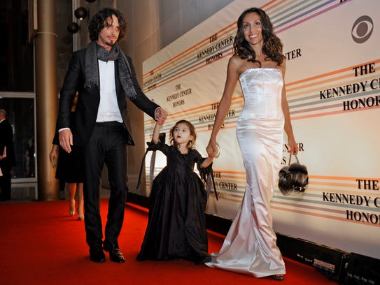 Chris Cornell and wife Vicky escort daughter Toni,