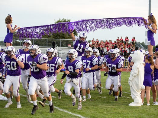 Northern York takes the field before its game against