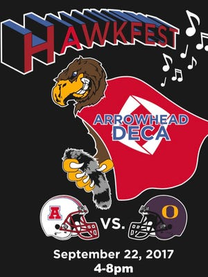 Arrowhead High School's DECA group is hosting its seventh annual Hawkfest to take place during Arrowhead's football game vs Oconomowoc Friday, Sept. 22.