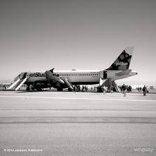Pic by Actor Jackson Rathbone via WhoSay of JetBlue flight 1416 that experienced an in-flight emergency & landed safely at Long Beach airport in Southern California