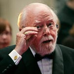 British actor and director Richard Attenborough arrives at the Galaxy British Book Awards in London. Acclaimed actor and Oscar-winning director Richard Attenborough, whose film career on both sides of the camera spanned 60 years, died Sunday. He was 90.
