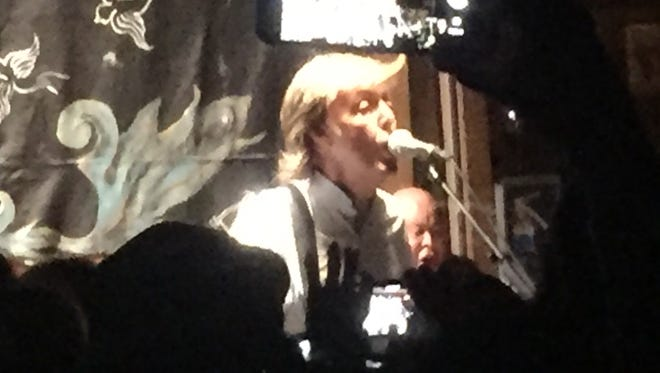 Paul McCartney performs to a literally packed house Thursday at Pappy and Harriet's saloon in Pioneertown