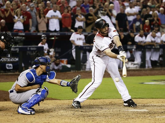 Arizona Diamondbacks' Paul Goldschmidt swings and misses