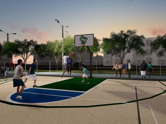 "In addition to providing a $150,000 ""multi-sport complex"" at Browning Elementary School, the Bucks and Johnson Controls plan to contribute $60,000 a year for programming for 10 years."