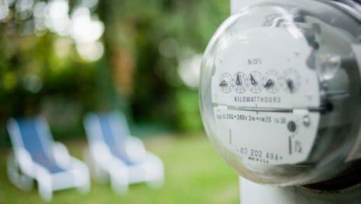 Electricity meter.
