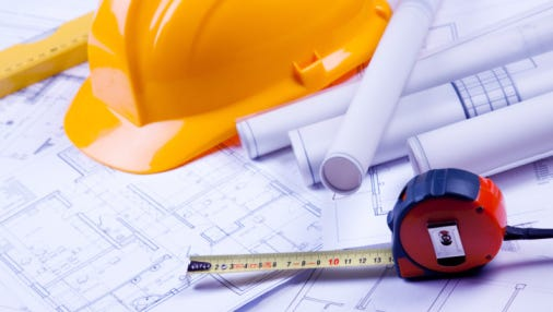 A stock image of construction equipment.