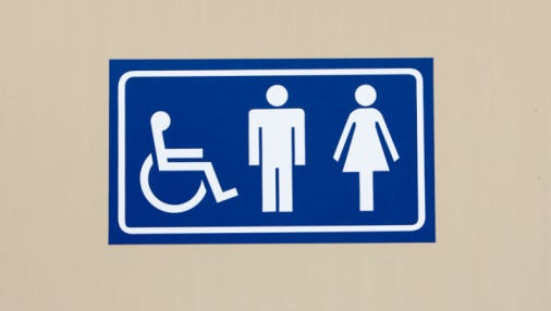 An example of what the signage for Cherry Hill East's new gender-neutral bathroom will look like