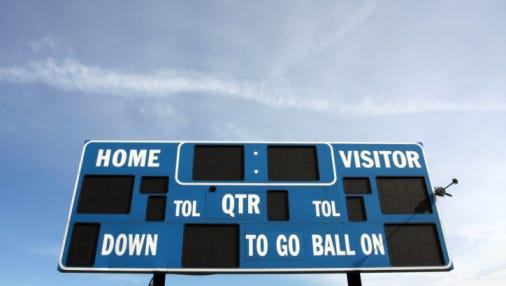 American Football Sports Scoreboard