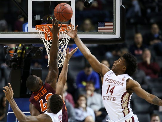 Florida State guard Terance Mann (14) shined in the