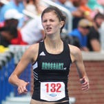 Brossart senior Nicole Goderwis won two state events Saturday. KHSAA Class 1A state track and field meet. May 23, 2015. University of Kentucky.