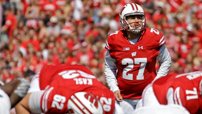 Wisconsin kicker Rafael Gaglianone has made 7 of 8 field-goal attempts this season.