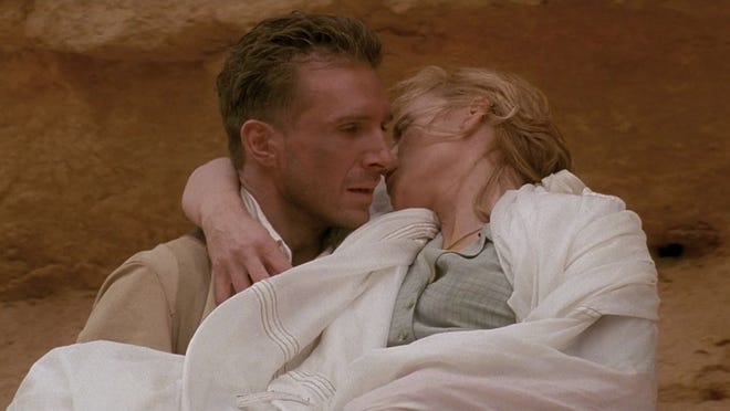 "Ralph Fiennes and Kristin Scott Thomas in ""The English Patient"" (1996)."