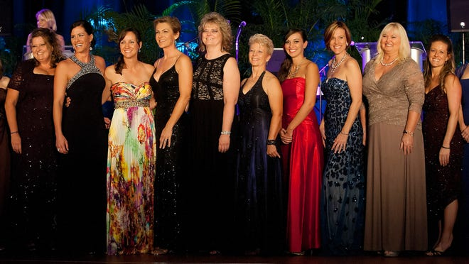 Members of The Greater Fort Myers Chamber of Commerce's Women in Business committe were also honored Saturday during the Ninth Annual Apex Awards at the Hyatt Regency Coconut Point Resort and Spa in Bonita Springs.