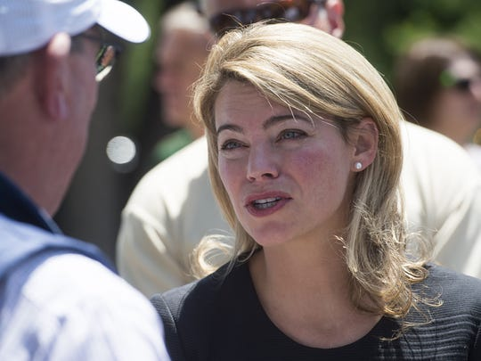 Federal Railroad Administrator Sarah Feinberg on a tour of Old Town in June, as community representatives met with her to seek train quiet zones in the area. Most residents of Fort Collins and the surrounding area who filed comments with the federal government favor easing a Federal Railroad Administration regulation that requires trains to blast their horns when approaching a crossing.