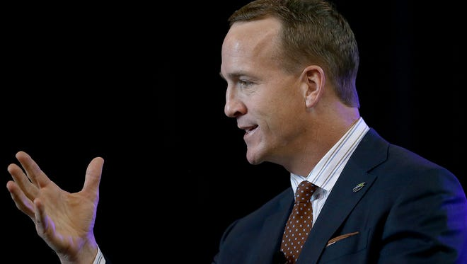 Former Indianapolis Colts and Tennessee Volunteers quarterback Peyton Manning will be inducted into the College Football Hall of Fame on Dec. 5, 2017.
