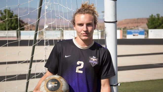 Desert Hills boys' soccer midfielder/forward Kelton Holt.