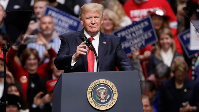 """President Donald Trump old the leaders of Mexico and Canada that he will not pull out of the North American Free Trade Agreement. Trump said he believes """"the end result will make all three countries stronger and better."""""""