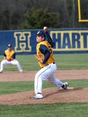 Hartland right-hander John Baker gave up four runs in four innings while striking out eight in his season debut against Howell. He took the loss in game one.