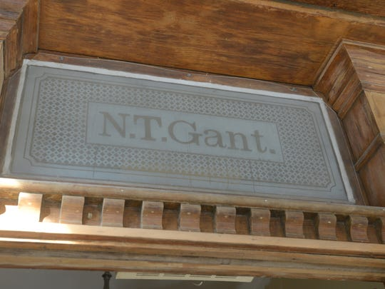 A frosted glass window above the door of the Gant House in Zanesville has survived the house's various careers, including several incarnations as restaurants.