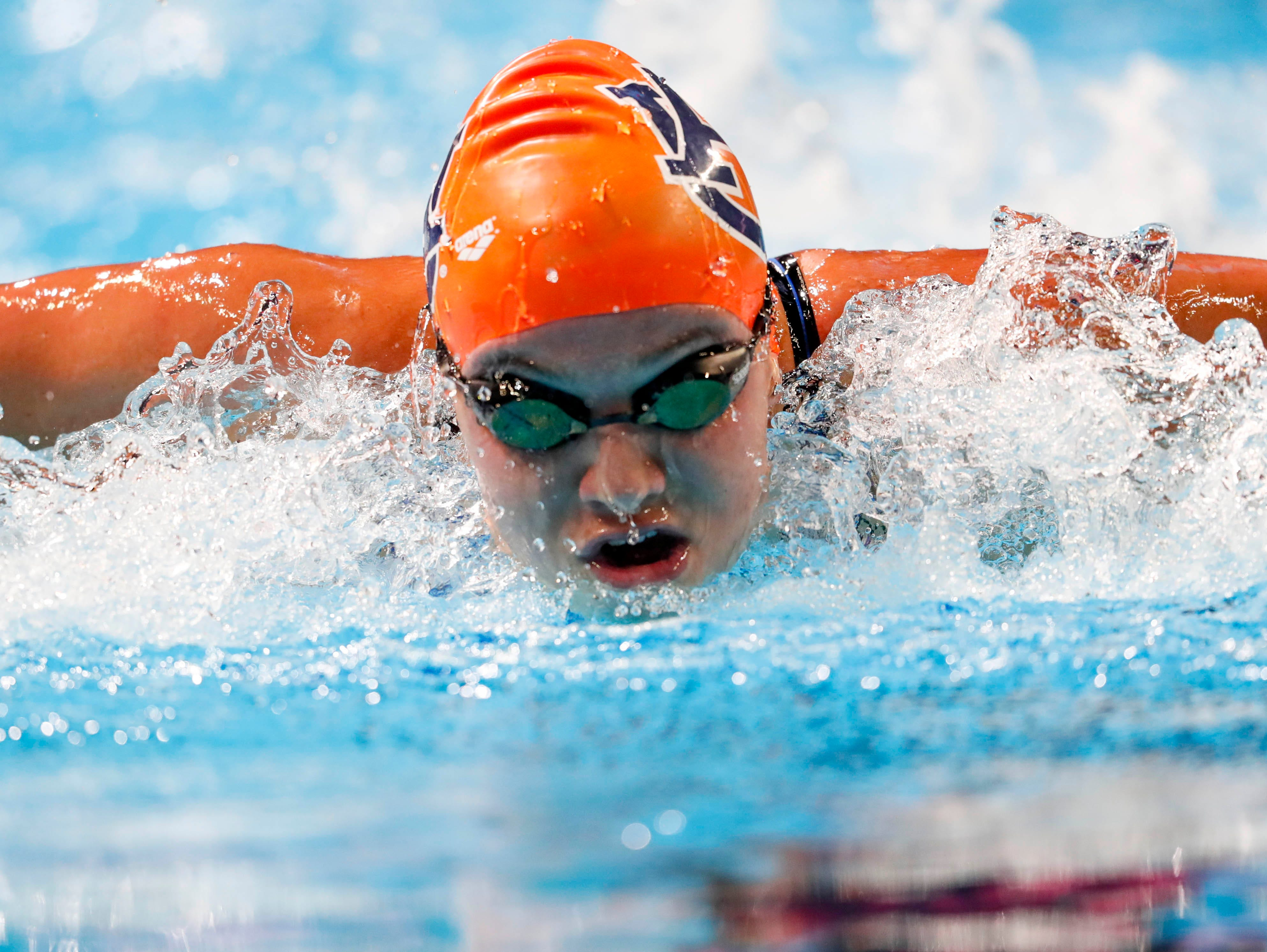 Fossil Ridge graduate and Auburn University sophomore Bailey Nero swims during the women's 200 meter butterfly in the U.S. Olympic swimming team trials at CenturyLink Center on Wednesday.
