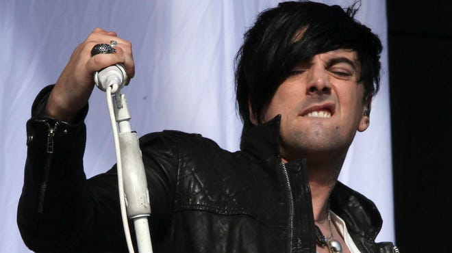 Ian Watkins, ex-lead singer of Lostprophets, performs at V Music Festival in Hylands Park, Chelmsford, England in August 2011.