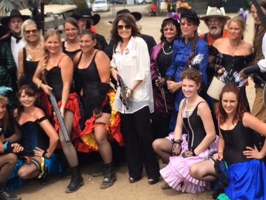 Sarah Palin was at the 88th Arcadia Rodeo on Sunday