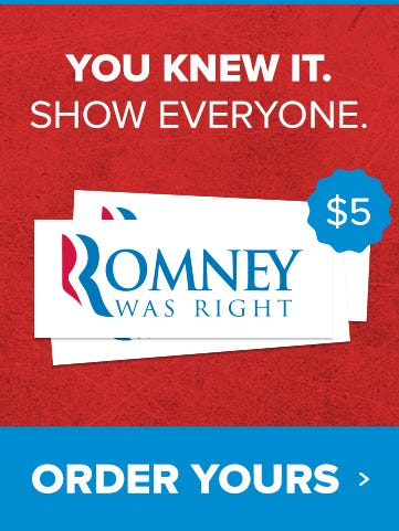Mitt Romney For President With Republican Elephant Oval Bumper Sticker